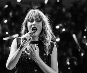 black and white, Reputation, and singing image