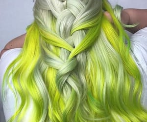 colorful hair, green hair, and hair image