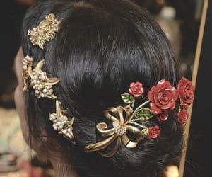 hair, fashion, and Dolce & Gabbana image