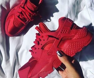 red, shoes, and nike image