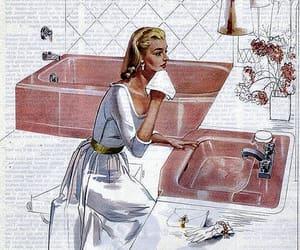 kohler, vintage bathroom, and 1950s bathroom image
