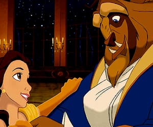 animation, movie, and beauty and the beast image