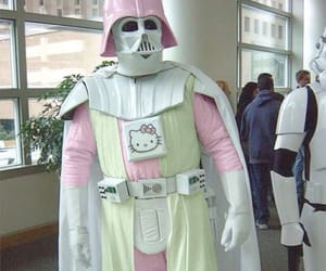 hello kitty, star wars, and funny image