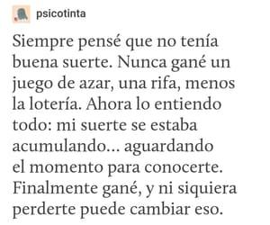 amor, tumblr, and suerte image
