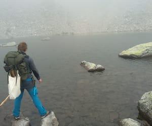 bag, wanderer, and mountains image