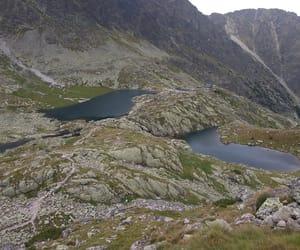 lake, slovakia, and mountains image