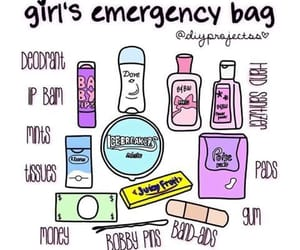 college, emergency, and bag image
