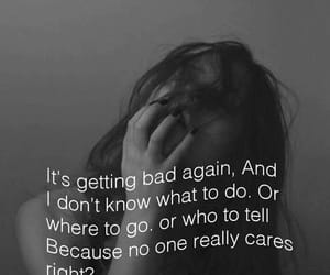 dark, nobody, and sad image