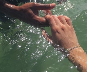 hands, water, and aesthetic image