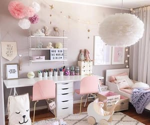 bedroom, decor, and girls image