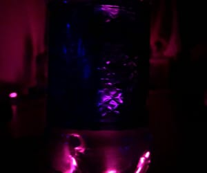 blue, neon lights, and bottle image