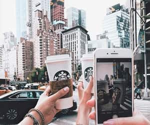 starbucks, coffee, and city image
