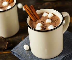 marshmallow, hot ​chocolate, and chocolate image