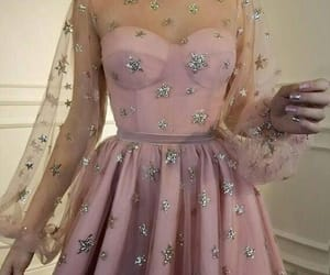 dress, pink, and stars image