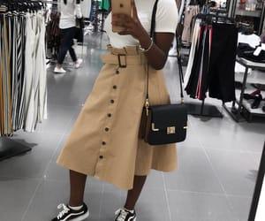 look, skirt, and vans image