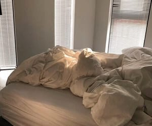 white, aesthetic, and bed image