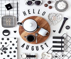 August and coffee image