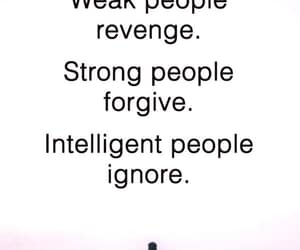 revenge, weakness, and strong people image