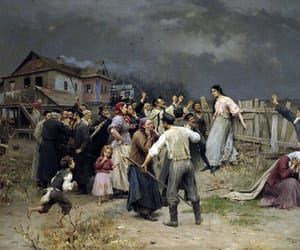 paintings, society, and arguing image