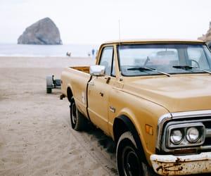 beach, car, and girl image