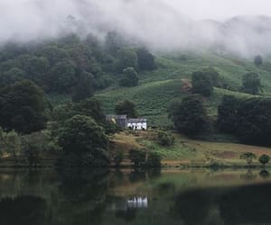 house, landscape, and lake district image