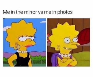 funny, mirror, and simpsons image