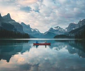 boat, lake, and travel image