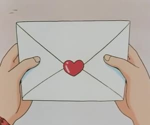 anime, Letter, and heart image