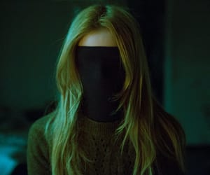 black, mask, and girl image