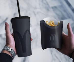 black, McDonalds, and food image