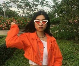 fashion, orange, and girl image