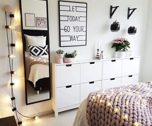 home design, interior, and above bed art image