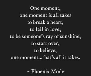 fall in love, one moment, and start over image