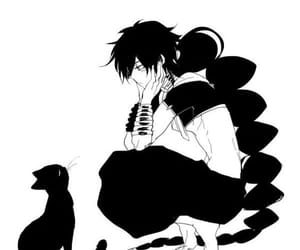 anime, judal (magi), and black cat image