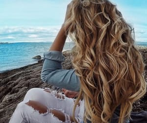 hair, hairstyle, and beauty image