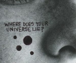black and white, universe, and black image