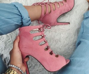 shoes, pink, and fashion image