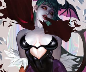 art, bat, and monster image