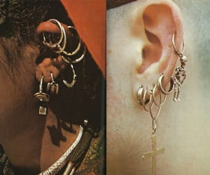 alternative, earring, and fashion image