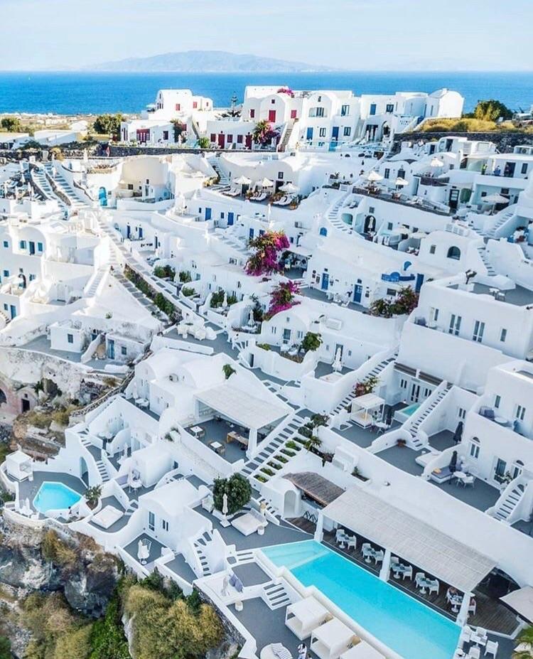 travel, Greece, and santorini image