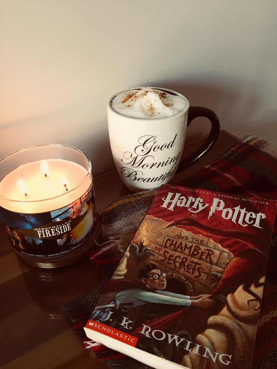autumn, books, and candle image