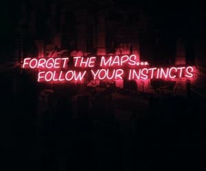 light, neon, and maps image