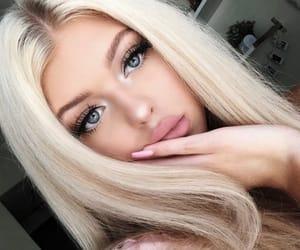 blonde, makeup, and loren image