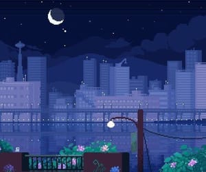 night, gif, and pixel image