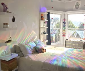 bedroom and rainbow image