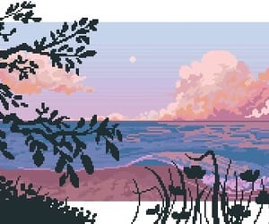 aesthetic, pink, and pixel image
