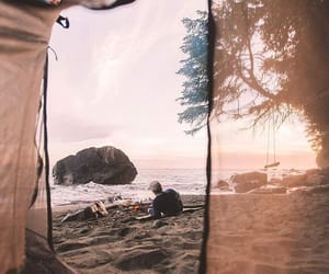 adventures, beach, and campfire image