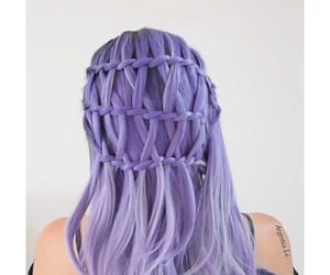 beauty, braids, and colored hair image