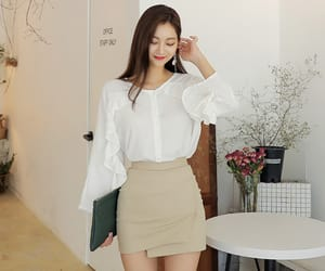asian fashion, blouse, and frill image