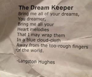 langston hughes, dream keeper, and all of your dreams image